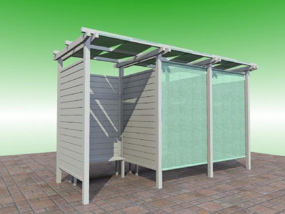 Cabina spogliatoio ibero stabilimenti balneari sunwood for Costruire uno scuro in legno
